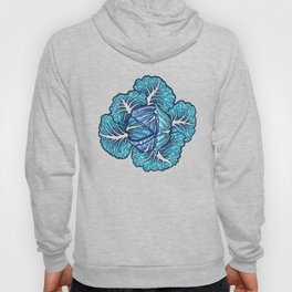 blue winter cabbage Hoody
