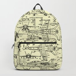 F-18 Blueprints // Parchment Backpack