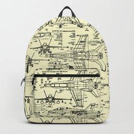 F-18 Blueprints // Parchment Backpack