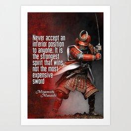 Miyamoto Musashi Samurai Winner Art Print