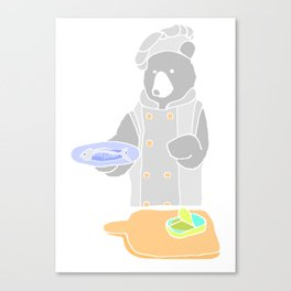 chef bear Canvas Print