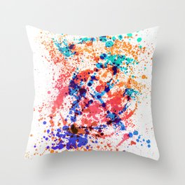 Wild Style - Abstract Splatter Style Throw Pillow