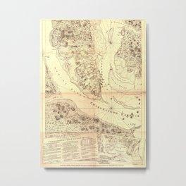 Vintage Map of Charleston South Carolina (1780) Metal Print