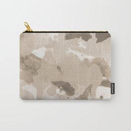 Pantone Hazelnut Splatters Watercolor Camo Pattern Carry-All Pouch