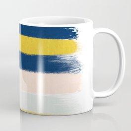 Stripes minimal trendy color palette gold silver metallic minimal home decor Coffee Mug