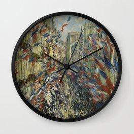 The Rue Montorgueil in Paris Wall Clock