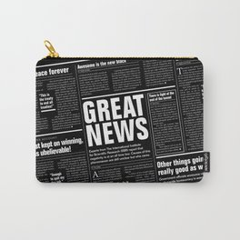 The Good Times Vol. 1, No. 1 REVERSED / Newspaper with only good news Carry-All Pouch