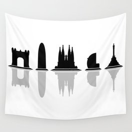 Barcelona skyline Wall Tapestry