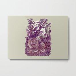 Rabbit Horns Metal Print