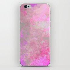 Pink Grey Watercolor iPhone & iPod Skin