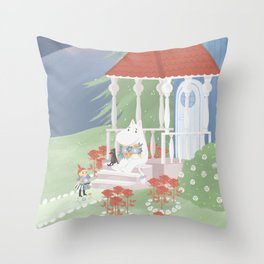 Spring in Moominvalley Throw Pillow
