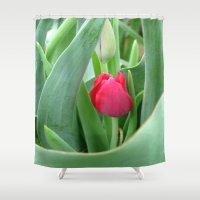 gem Shower Curtains featuring Hidden Gem by Rosie Brown