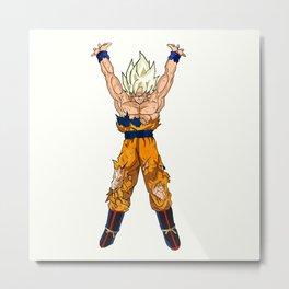 Goku Power of kamehameha Metal Print