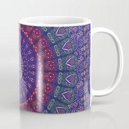 Blue Mandala Hippie Design Coffee Mug