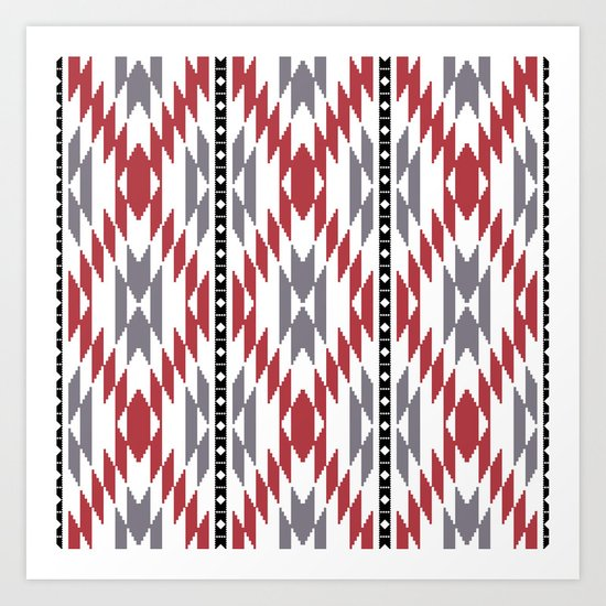 Ethnic rug pattern Art Print