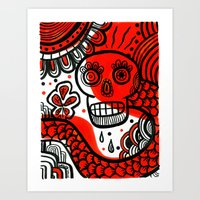 Voodoo Bleassing Snake Art Print