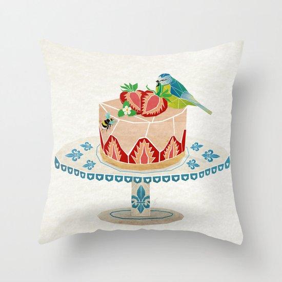 life is short, take a dessert  Throw Pillow