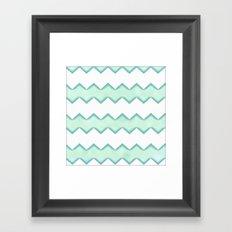 Chevron Mint Framed Art Print