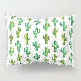 Golden Cacti Pillow Sham