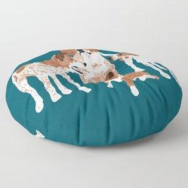 Maggie Millie Maisie and Victoria Floor Pillow
