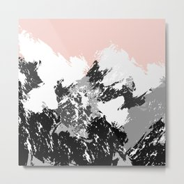 Mountainscape. Abstract nature. Metal Print