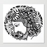 christ Canvas Prints featuring Christ by Tatiana FG Brito