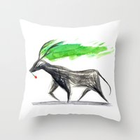 hannibal Throw Pillows featuring Hannibal  by gunberk