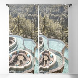 Tropical Swimming Pool Bali Island Photo   Blue Water And Palm Tree Jungle Art Print   Nature Travel Photography Blackout Curtain