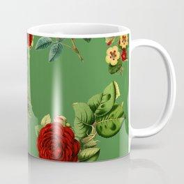 Green vintage roses Coffee Mug