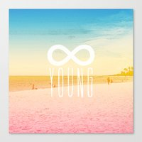 forever young Canvas Prints featuring Forever Young by M Studio