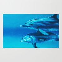 dolphin Area & Throw Rugs featuring Dolphin by Bocese