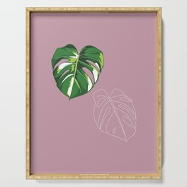 house monstera #4 Serving Tray