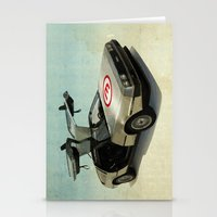 delorean Stationery Cards featuring Number 3 - DeLorean by Vin Zzep