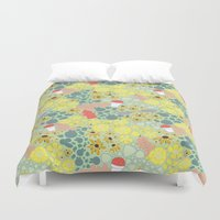 baltimore Duvet Covers featuring Baltimore Summer by Puddles of Ink