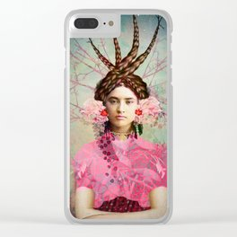 Portrait in Pastell Clear iPhone Case