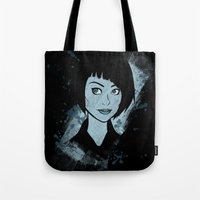 tron Tote Bags featuring Tron - Quorra by Alifaun