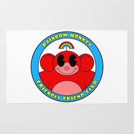 Rainbow Monkey Friendly Friend Club! Rug