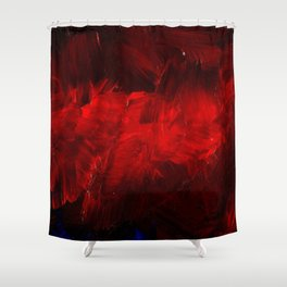 Modern Art - Dark Red Throw Pillow - Jeff Koons Inspired - Postmodernism - Corbin Henry Shower Curtain