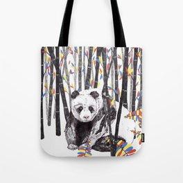 Panda Bear // Endangered Animals Tote Bag
