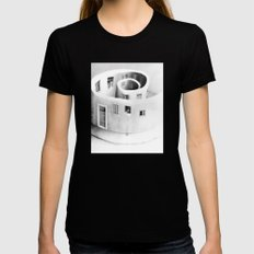 Windows of Perception Black Womens Fitted Tee SMALL