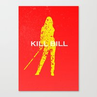 kill bill Canvas Prints featuring Kill Bill by Ehab Hassouna