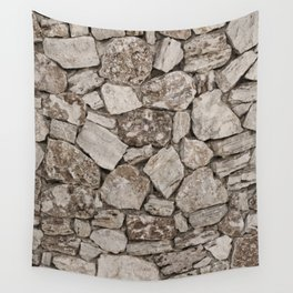 Old Rustic Stone Wall Wall Tapestry