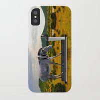 fitness iPhone & iPod Cases featuring Fitness Zebra by Bemular