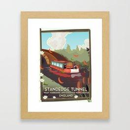 standedge tunnel Yorkshire travel poster. Framed Art Print