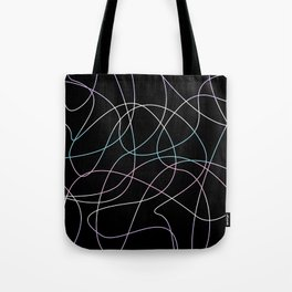 Abstract Threads – Intersex Pride Flag Tote Bag