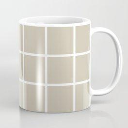 Olive grid, scandinavian grid Coffee Mug
