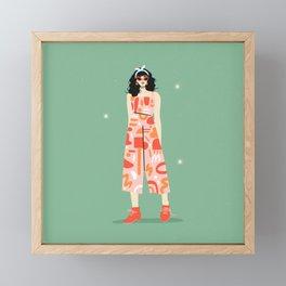 Retro Babe Framed Mini Art Print