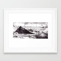 iceland Framed Art Prints featuring Iceland by Justine Lecouffe