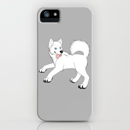 Husky (White) iPhone Case