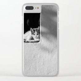 Greek Cat Clear iPhone Case